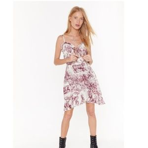 NWT - For the Frill It Porcelain Mini Dress